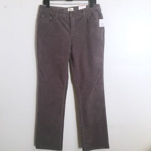 St John's Bay Gray Straight Leg Cords Pants